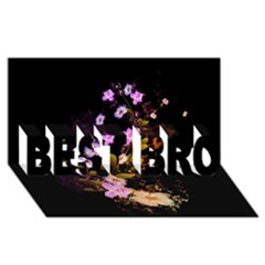 Awesome Flowers With Fire And Flame Best Bro 3d Greeting Card (8x4)