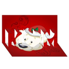 Funny Polar Bear Mom 3d Greeting Card (8x4)