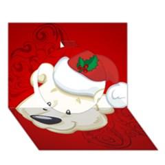 Funny Polar Bear Circle 3d Greeting Card (7x5)  by FantasyWorld7