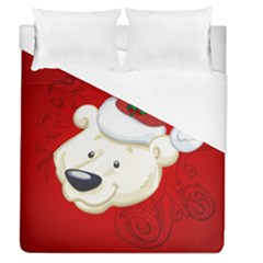 Funny Polar Bear Duvet Cover Single Side (full/queen Size) by FantasyWorld7