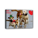 Birthday Dogs Mini Canvas 6  x 4  (Stretched)