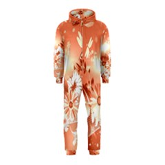 Amazing Flowers With Dragonflies Hooded Jumpsuit (kids)