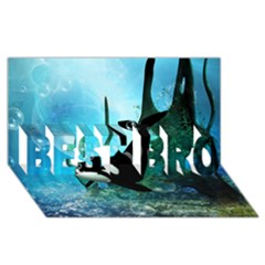 Orca Swimming In A Fantasy World Best Bro 3d Greeting Card (8x4)  by FantasyWorld7