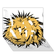 Lion Love 3d Greeting Card (7x5)