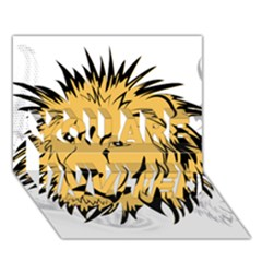 Lion You Are Invited 3d Greeting Card (7x5)  by EnjoymentArt
