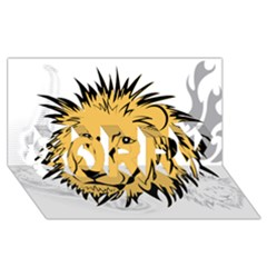 Lion Sorry 3d Greeting Card (8x4)