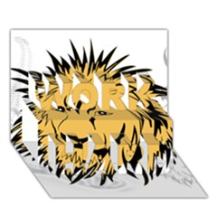 Lion Work Hard 3d Greeting Card (7x5)  by EnjoymentArt