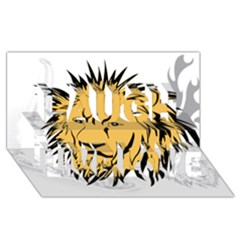 Lion Laugh Live Love 3d Greeting Card (8x4)  by EnjoymentArt