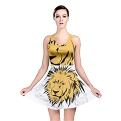 Lion Reversible Skater Dresses by EnjoymentArt