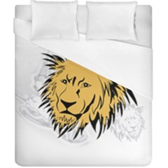 Lion Duvet Cover Single Side (Double Size) by EnjoymentArt