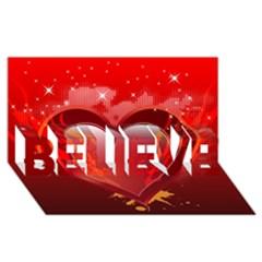 Heart Believe 3d Greeting Card (8x4)