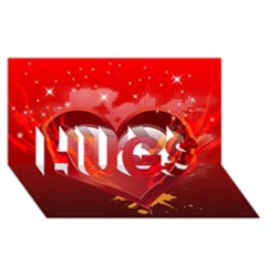 Heart Hugs 3d Greeting Card (8x4)
