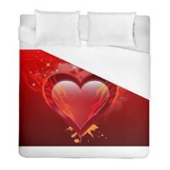 Heart Duvet Cover Single Side (twin Size) by EnjoymentArt