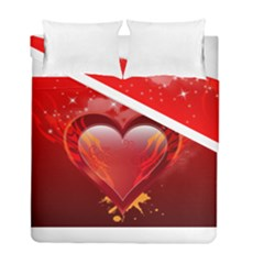 heart Duvet Cover (Twin Size) by EnjoymentArt