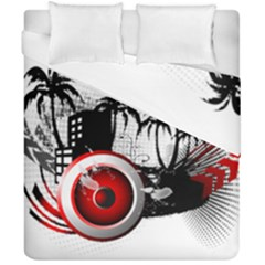 Music, Speaker Duvet Cover (double Size) by EnjoymentArt