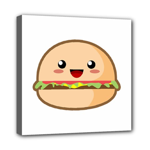 Kawaii Burger Mini Canvas 8  X 8