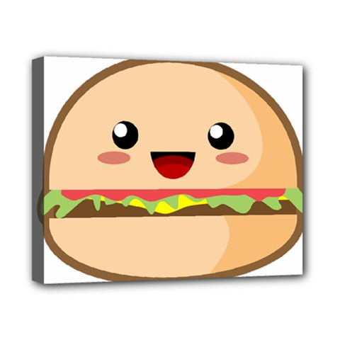 Kawaii Burger Canvas 10  X 8