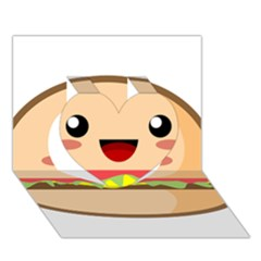 Kawaii Burger Heart 3d Greeting Card (7x5)  by KawaiiKawaii