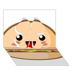 Kawaii Burger Clover 3d Greeting Card (7x5)  by KawaiiKawaii