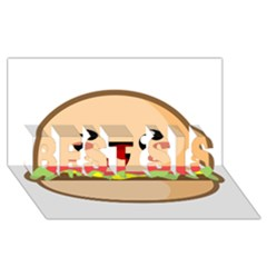 Kawaii Burger Best Sis 3d Greeting Card (8x4)  by KawaiiKawaii