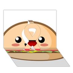 Kawaii Burger Ribbon 3d Greeting Card (7x5)  by KawaiiKawaii