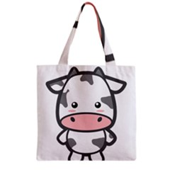 Kawaii Cow Grocery Tote Bags by KawaiiKawaii