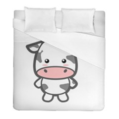 Kawaii Cow Duvet Cover Single Side (twin Size) by KawaiiKawaii