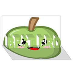 Kawaii Green Apple Best Bro 3d Greeting Card (8x4)