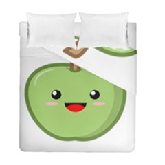 Kawaii Green Apple Duvet Cover (twin Size) by KawaiiKawaii
