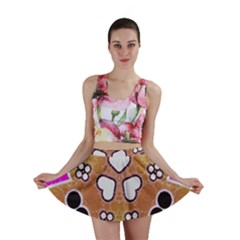 Pink Black Yellow Abstract  Mini Skirts by OCDesignss
