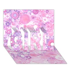 Lovely Allover Ring Shapes Flowers Pink Girl 3d Greeting Card (7x5)