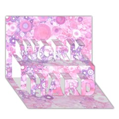 Lovely Allover Ring Shapes Flowers Pink Work Hard 3d Greeting Card (7x5)