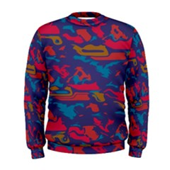Chaos in retro colors  Men s Sweatshirt by LalyLauraFLM