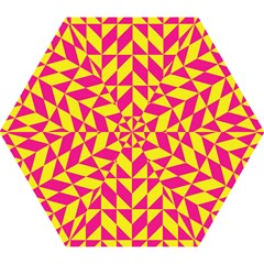 Pink And Yellow Shapes Pattern Umbrella