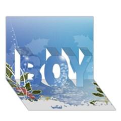 Christmas Tree Boy 3d Greeting Card (7x5) by FantasyWorld7