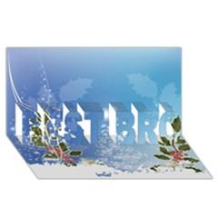 Christmas Tree Best Bro 3d Greeting Card (8x4)