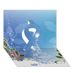 Christmas Tree Ribbon 3d Greeting Card (7x5)  by FantasyWorld7