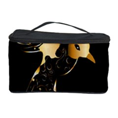 Beautiful Bird In Gold And Black Cosmetic Storage Cases