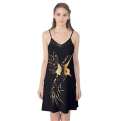 Beautiful Bird In Gold And Black Camis Nightgown