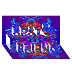 Abstract 4 Best Friends 3d Greeting Card (8x4)  by icarusismartdesigns