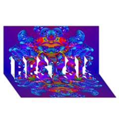 Abstract 4 Best Sis 3d Greeting Card (8x4)  by icarusismartdesigns