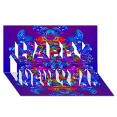 Abstract 4 Happy New Year 3d Greeting Card (8x4)  by icarusismartdesigns