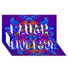 Abstract 4 Laugh Live Love 3d Greeting Card (8x4)  by icarusismartdesigns