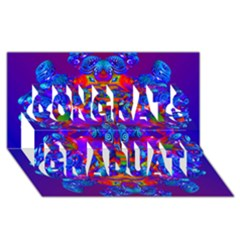Abstract 4 Congrats Graduate 3d Greeting Card (8x4)