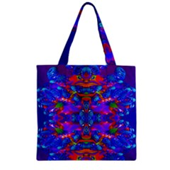 Abstract 4 Zipper Grocery Tote Bags by icarusismartdesigns