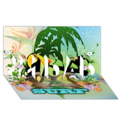 Surfing #1 Dad 3d Greeting Card (8x4)