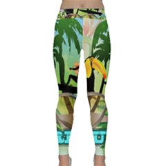 Surfing Yoga Leggings by FantasyWorld7