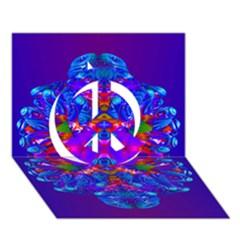 Abstract 5 Peace Sign 3d Greeting Card (7x5)
