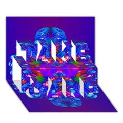 Abstract 5 TAKE CARE 3D Greeting Card (7x5)  by icarusismartdesigns