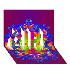 Abstract 6 Girl 3d Greeting Card (7x5)  by icarusismartdesigns